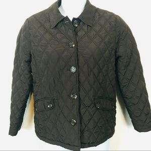 Croft & Barrow Brown Quilted Barn Coat Size Large